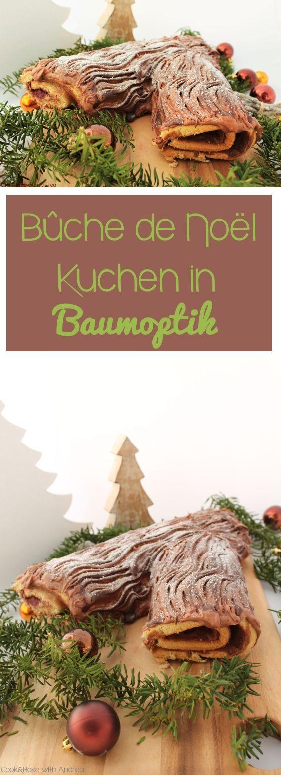 Bûche de Noël, der französische Klassiker zu Weihnachten. #weihnachten #advent #buchedenoel #baumkuchen #rezept #schoko #biskuitrolle #winter #candbfood #candbwithandrea #foodblog #blog