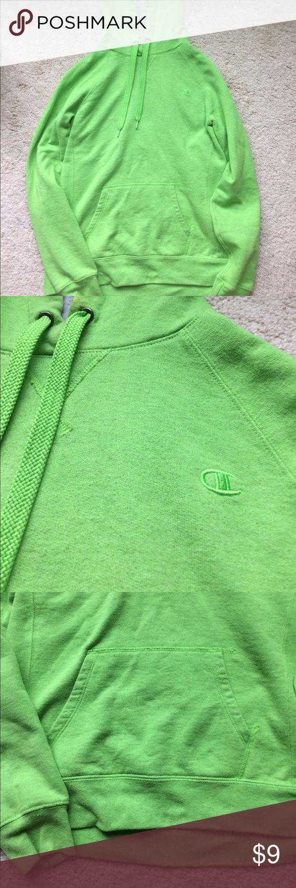 A green champion hoodie Lime green hoodie Champion Tops Sweatshirts & Hoodies