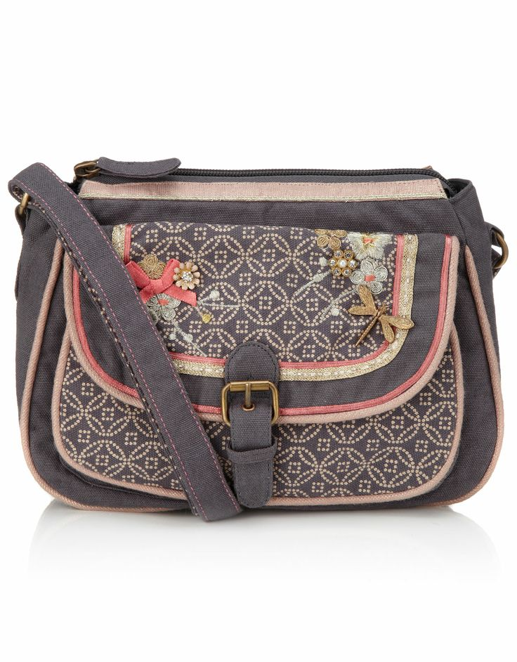 Orchid Geo Charm Saddle Bag