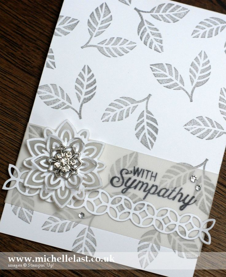 Team Challenge - Stampin' Up! Die Cut Flowers - with Michelle Last