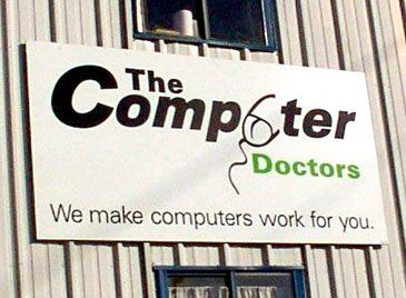 The Computer Doctors was a small business that could have avoided internet infamy with a better graphic-design budget.