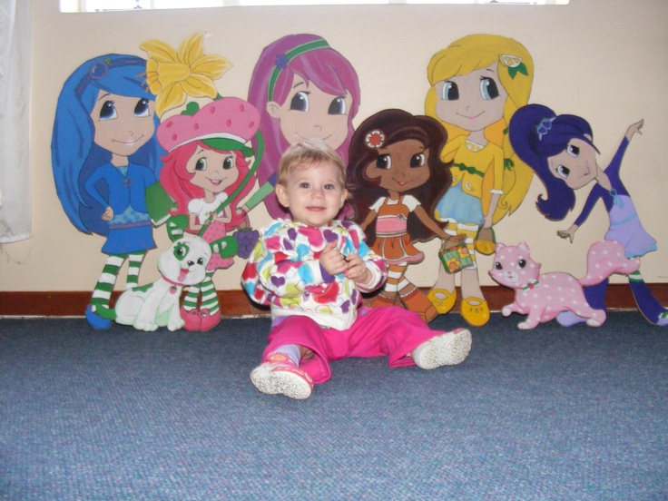 Theme Setters all together with the Birthday Girl  StrawberryShortcake