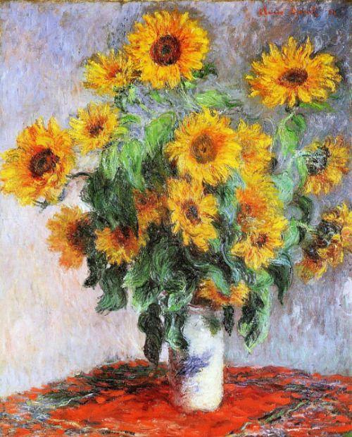 Claude monet 1840 1926 bouquet de tournesols bouquet of art pinterest bouquets et monet - Bouquet de tournesol ...