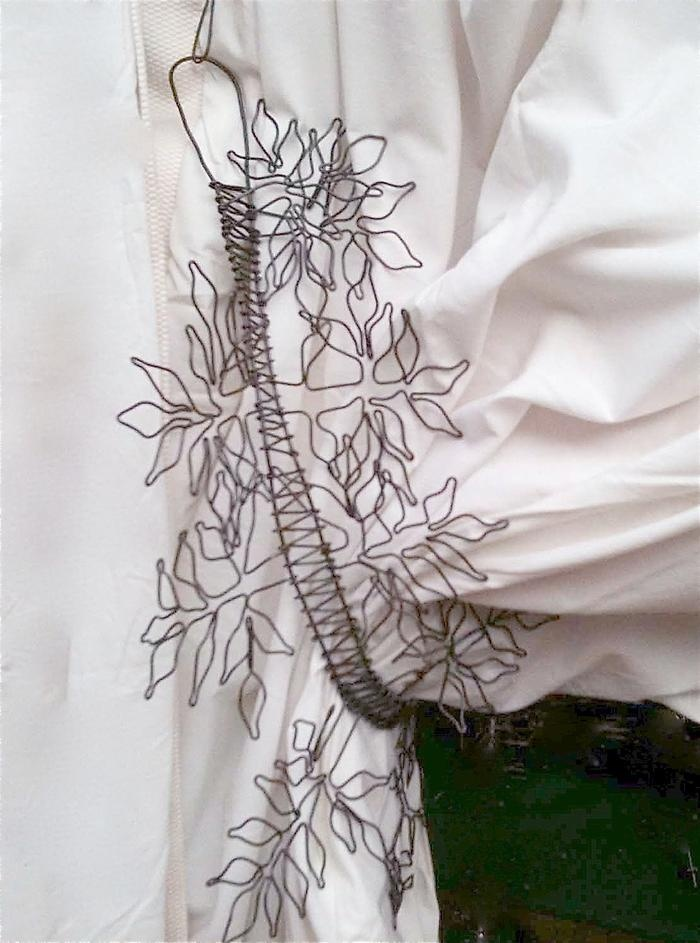 wire art pieces. Wire tiebacks for drapes.