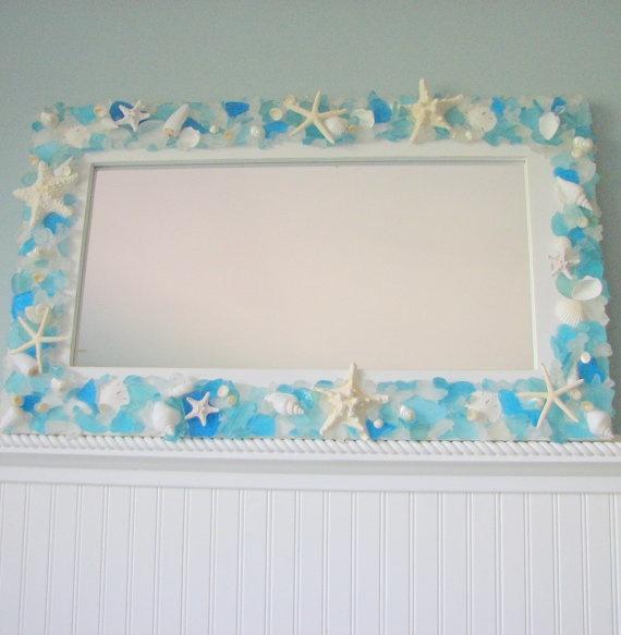 Seashell & Sea Glass Mirror, Sea & Beach Craft