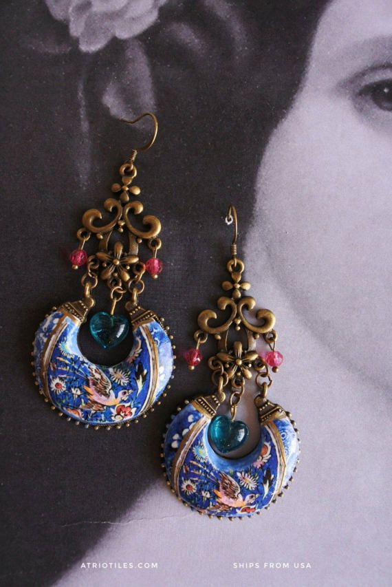 462 best Bohemian Earrings images on Pinterest | Tiles, Ethnic and ...