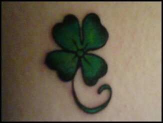 Shamrock Tattoo...been wanting one for a while. Hoping when I get it luck will come my way!