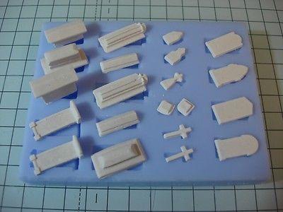 Model-Railway-Gravestones-Mould-00-Scale-Model-Railway-Scenery