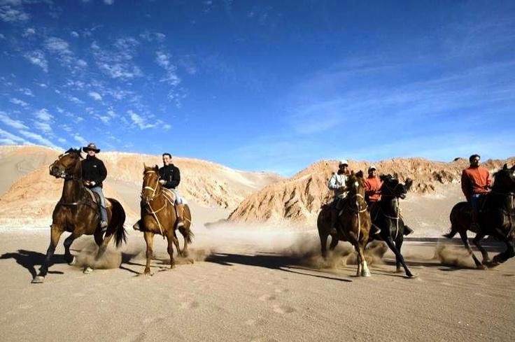 Horseback riding through the Atacama Desert @ San Pedro de Atacama
