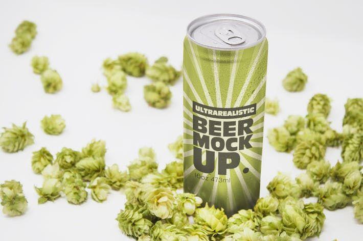 Perspective 16oz Beer Can Mockup By Smartdesigns Eu On Envato Elements Beer Can Mockup Design Beer Logo