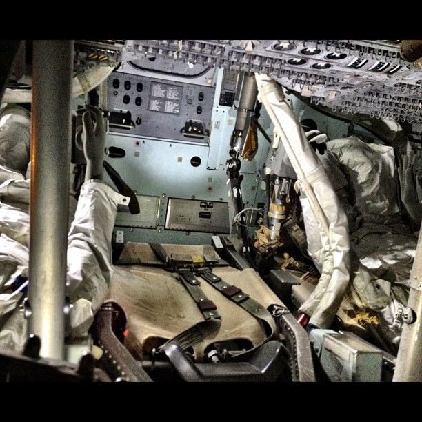The inside of the real Apollo 13 capsule. This was just great to see. #NASA -