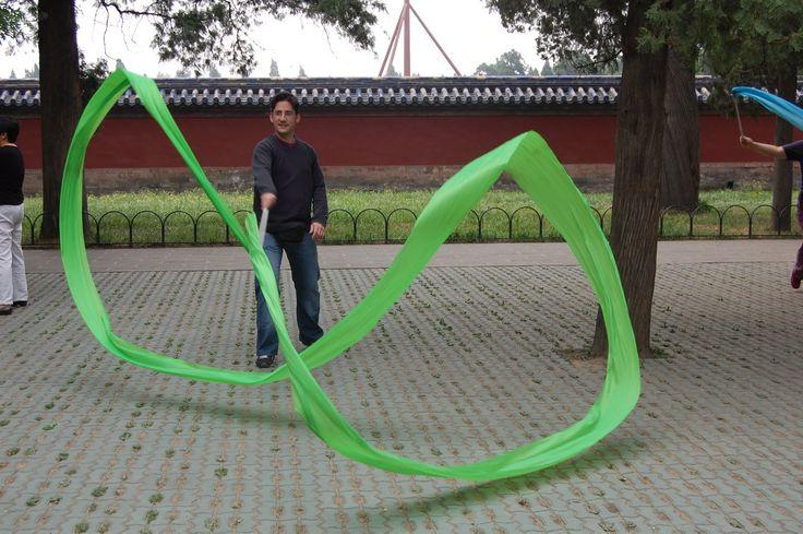 Pékin - Parc Jingshan - Démonstration de Ruban