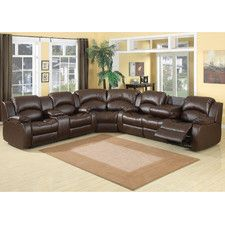 3 Pc Samara Chocolate Bonded Leather Sectional Sofa With Recliners On The  Ends And Overstuffed Arms And Backs. This Set Features A Sofa With Recliners  On ...