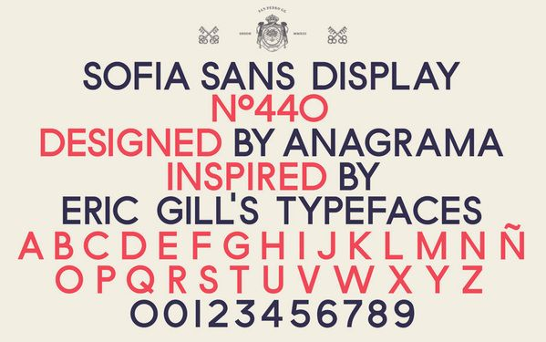 The custom type designed for the 'Sofia' identity by Anagramma. Impactful, dignified, nostalgic and ever so slightly British...