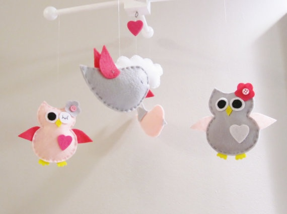 Owl Mobile for baby crib. Too cute.