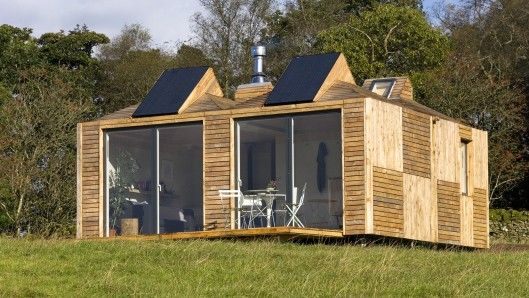 Brockloch Bothy, a holiday cottage in Scotland, is built from a number of Echo's Eco Pods ...