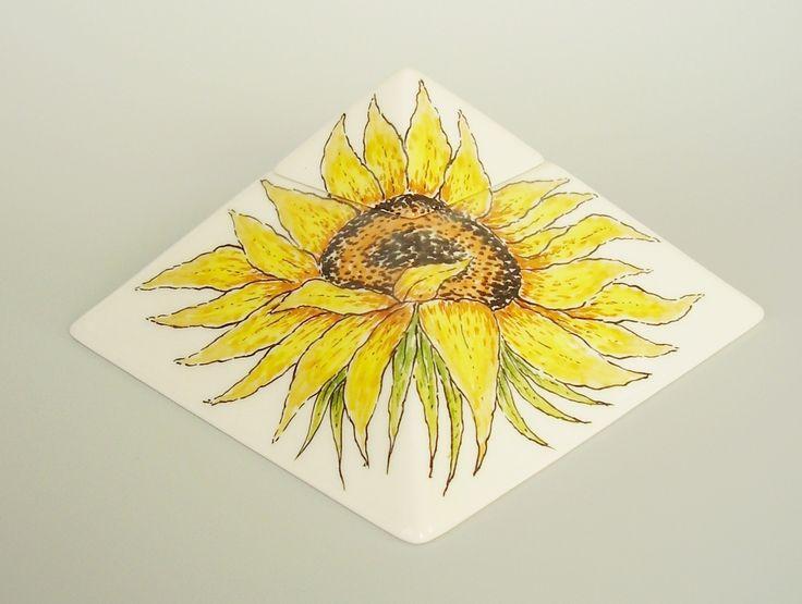 Hand painted cremation urn - Sunflower - Phoenix Urns®
