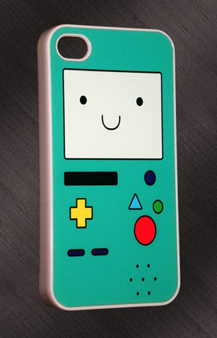iPhone 4/4S Adventure Time Beemo Print Design Cover  BEEMO!!!!!! WANT!