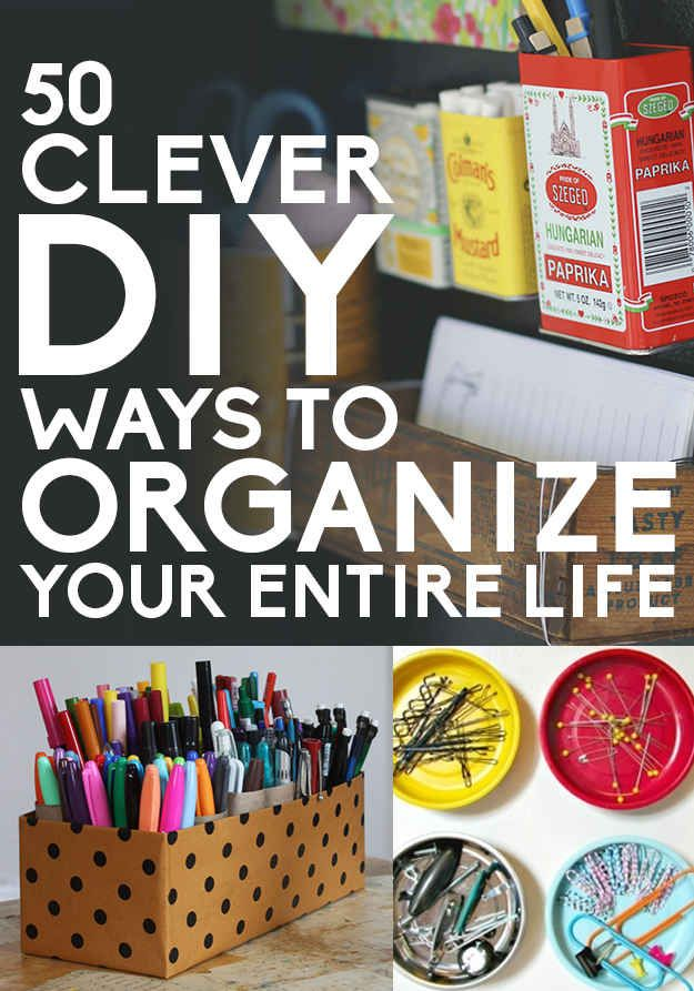 50 Clever DIY Ways To Organize Your Entire Life @Sarah Chintomby Thompson check out the yarn wall