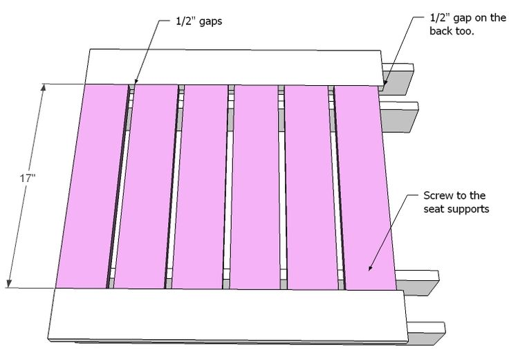 Ana White | Build a Simple Modern Outdoor Sectional Armless Section | Free and Easy DIY Project and Furniture Plans