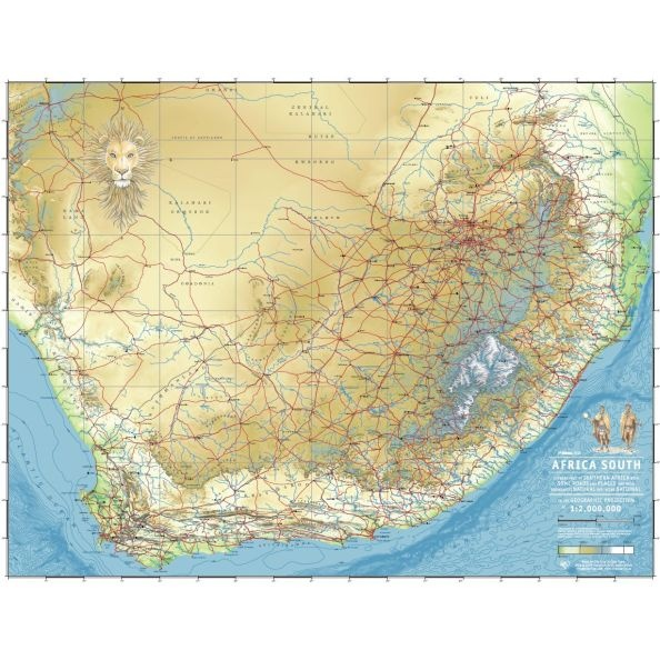 Relief map os South Africa: full size screen resolution versions of our maps can be gotten from www.mapland.co.za or buy it from www.clipclop.co.za