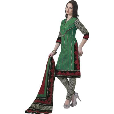 Buy Pari green Cotton Dress Material by Agate Business Services Private Limited, on Paytm, Price: Rs.699?utm_medium=pintrest