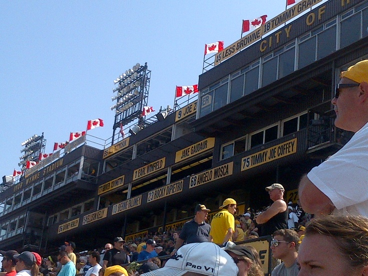 Hamilton Tiger-Cats Wall of Honour at Ivor Wynne Stadium. September 3, 2012 - Hamilton, Ontario. Final Labour Day Classic at the historic stadium. #Argos #TiCats #CFL #Canada #Hamilton #football