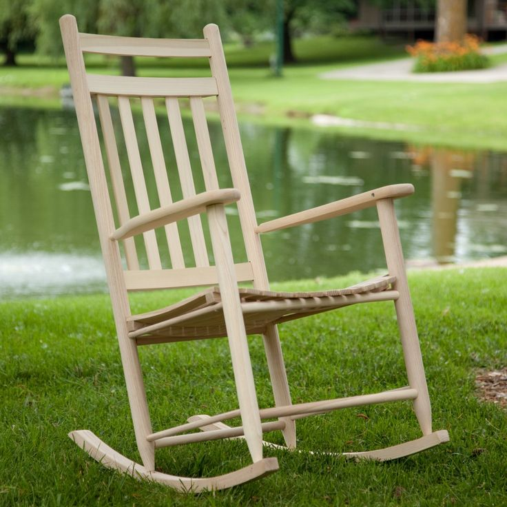 Dixie Seating Indoor/Outdoor Slat Rocking Chair - Unfinished  For my ...