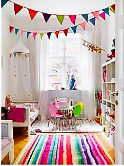 can't find the original photo from Living Etc. -- anyone? But this kids' room makes me really happy.