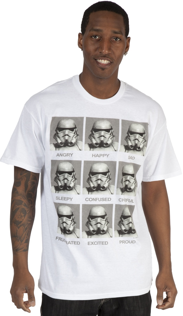Emotions Storm Trooper Shirt Storm trooper shirt