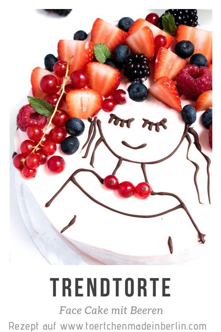 Trend Cake Face Cake: Zitronenkuchen mit Frischkäse, Schokolade und Beeren ….   – Face Cake / Face Kuchen