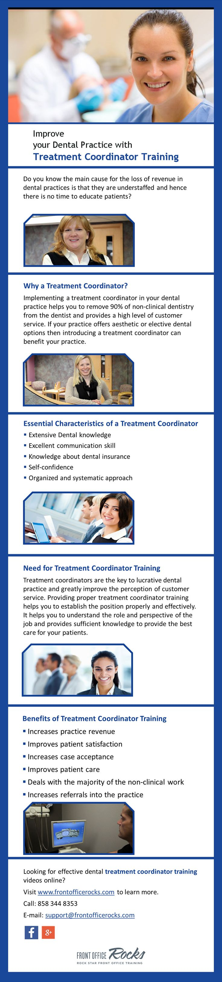 Treatment Coordinator Training Videos Online - Front Office Rocks provides treatment coordinator training videos online to make your dental practice more efficient and profitable. Visit http://frontofficerocks.com/ to know more about their service.