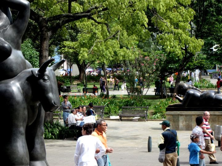 Plaza Botero is located in La Candelaria in Medellin Colombia – between the Museum of Antioquia and the Palace of Culture - SoloTripsAndTips.com