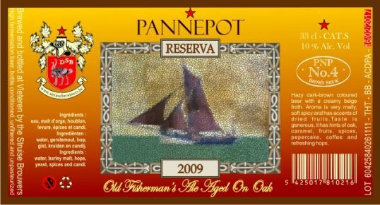 """Pannepot Grande Reserve Vintage 2009 """"This 'Old Fisherman's Ale', named after the fishing trawlers on which men would risk life and limb to feed their families, sits somewhere in between a Belgian strong dark ale and a stout."""" De Struise Brouwers, Oostvleteren, Belgium (11.2oz 10%) September 2014"""