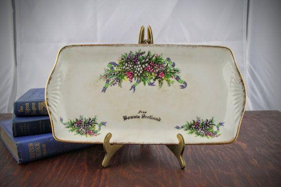 Vintage From Bonnie Scotland Platter  Souvenir by LoAndCoVintage