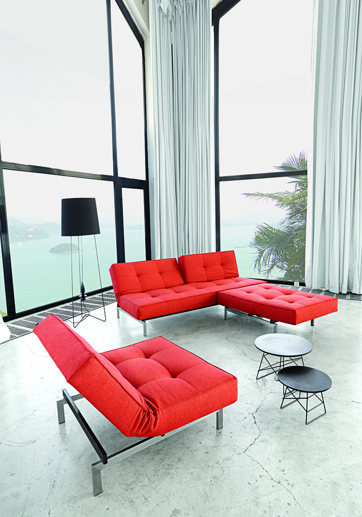 Chaise Sofa Simple modern elegance bined with multifunction and modularity in this modern Splitback living room collection by Innovation Living USA
