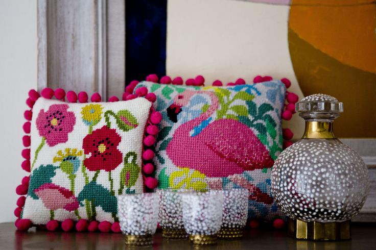 Poppies and Flamingos - pink things at www.madinengland.com