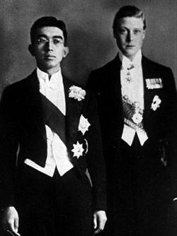 Prince Hirohito (Shōwa Emperor) and Edward, Prince of Wales (Edward VIII)