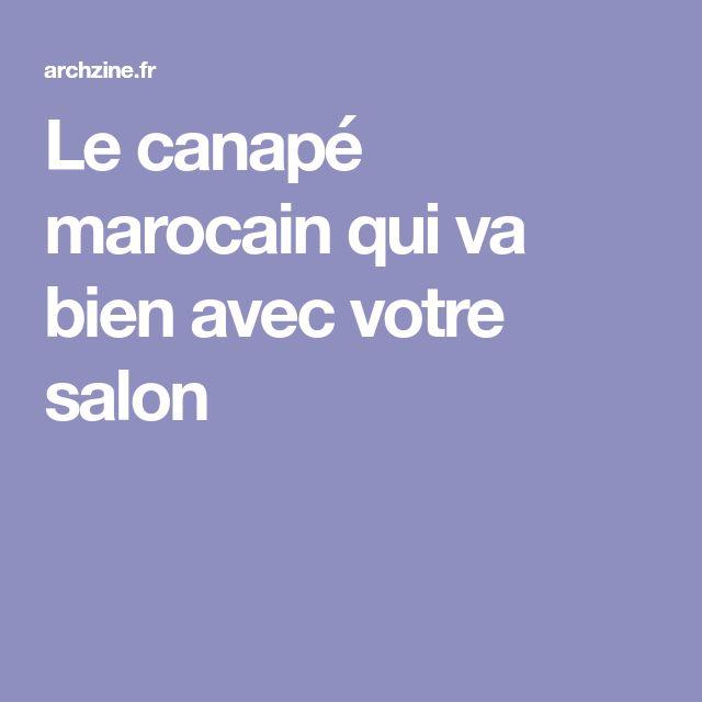 Le canapé marocain qui va bien avec votre salon