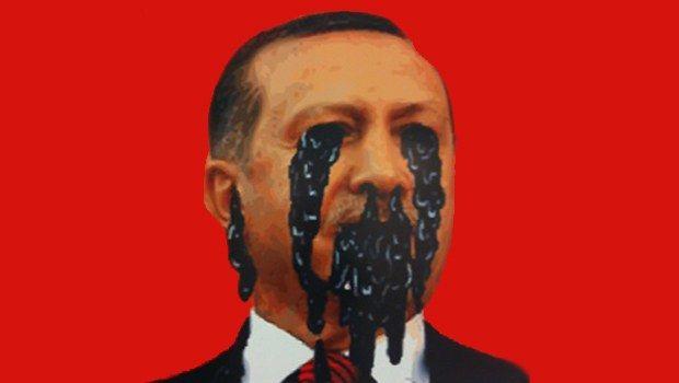 """Gezi Parkı konulu """"Müdahale Var mı?"""" adlı sergideki bu tablo kriz yarattı.  Savcılık, resimlerde Başbakan Erdoğan'a hakaret gerekçesiyle soruşturma başlattı. Soruşturmayı protesto eden sanatçılar, tüm tablolarını siyah kartonlarla kapattı. Serginin adı da """"Kesin bilgi, müdahale var"""" şeklinde değiştirildi. http://www.hurriyet.com.tr/kultur-sanat/25090787.asp"""