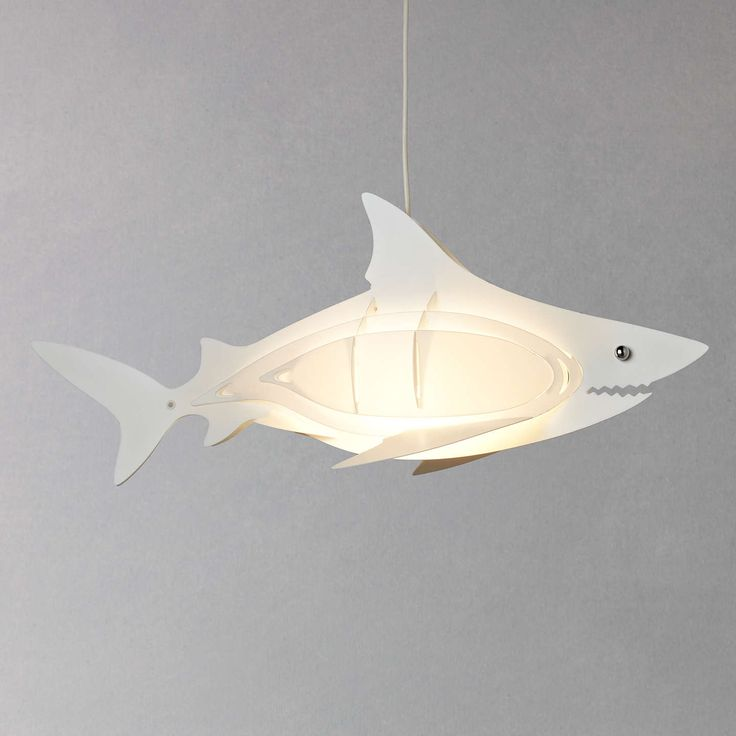 Buylittle home at John Lewis Easy-to-fit Shark Ceiling Pendant Shade Online at johnlewis.com