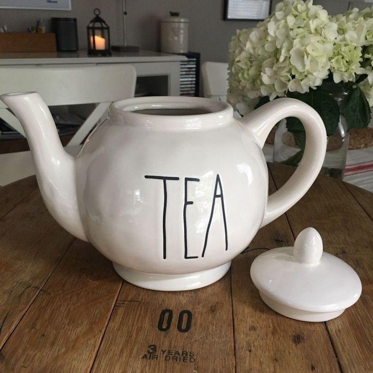 NEW Rae Dunn TEA Artisan Farmhouse Teapot - Canister *combine shipping #RaeDunnMagenta