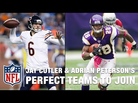 The Around the NFL guys examine where the best landing places would be for Adrian Peterson and Jay Cutler who are two of the marquee free agents that remain on the market.   Subscribe to NFL: http://j.mp/1L0bVBu  Start your free trial of NFL Game Pass: https://www.nfl.com/gamepass?campaign=sp-nf-gd-ot-yt-3000342  Sign up for Fantasy Football! http://www.nfl.com/fantasyfootball  The NFL YouTube channel is your home for immediate in-game highlights from your favorite teams and players, full…