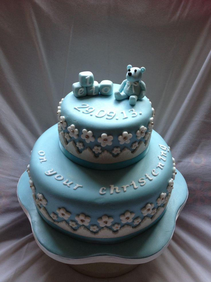 Boys christening/naming day cake.