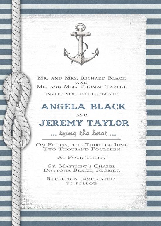 Nautical Invitation  DIY Printable invite for by SeaOfLoveStudios, $30.00