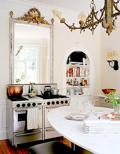 love the mirror over the stove.