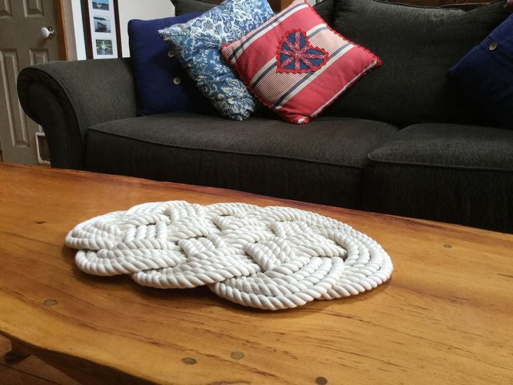 Nautical Rope Trivet - Off White Cotton Rope