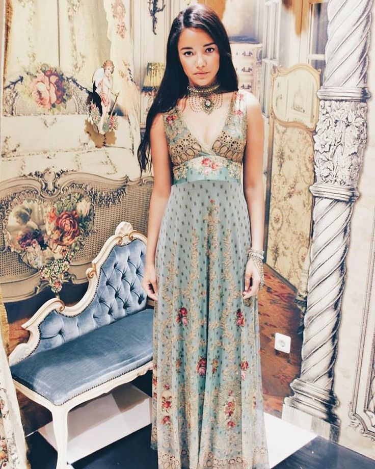 Michal Negrin dress and jewellery