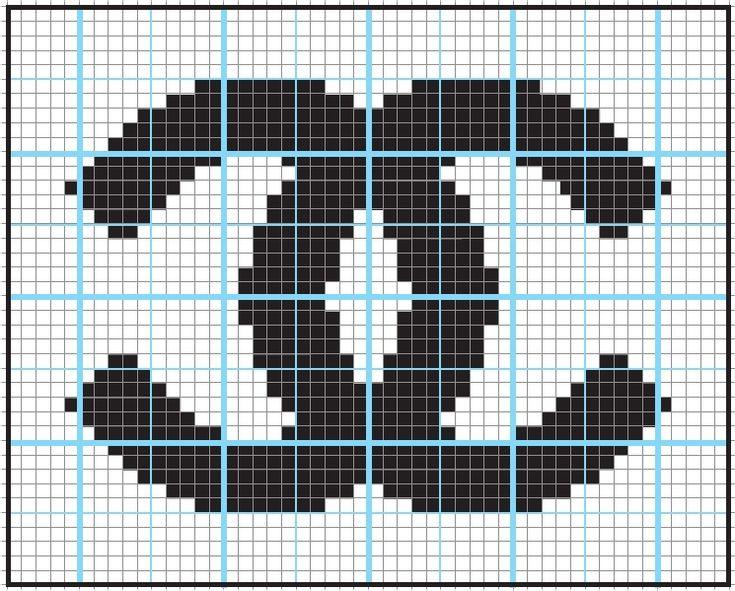 Logo ChanelCross Stitch, Crochet Pattern