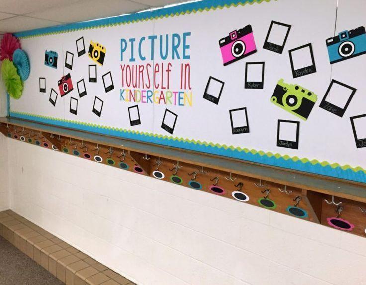 Kindergarten Back To School Bulletin Board.  Picture Yourself In Kindergarten